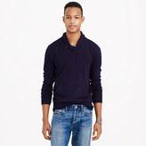J.Crew Rugged cotton shawl-collar sweater