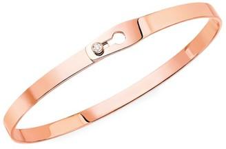 Dinh Van Serrure Ruban 18K Rose Gold & Diamond Bangle Bracelet