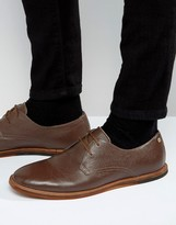 Frank Wright Busby Derby Shoes In Brown Leather