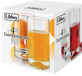 Libbey Set of Four Impressions Short Glasses