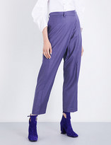 Toga Ladies Purple High-Rise Gabardine Pants