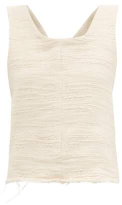 Albus Lumen - Petram Cotton Blend Gauze Cropped Top - Womens - Nude