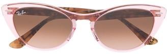 Ray-Ban Two-Tone Cat-Eye Frame Sunglasses
