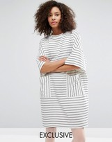 Monki Stripe T-Shirt Dress