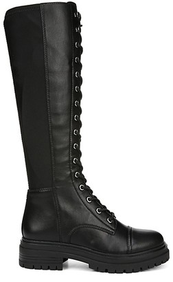 Sam Edelman Gwen Faux Leather Tall Combat Boots