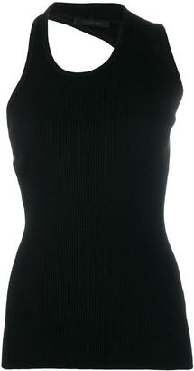 Helmut Lang ribbed design vest