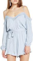 Bardot Tasmin Cotton Cold-Shoulder Romper