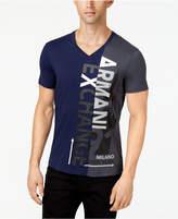 Armani Exchange Men's Split Graphic-Print T-Shirt