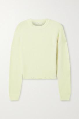 Tibi Distressed Knitted Sweater - Cream