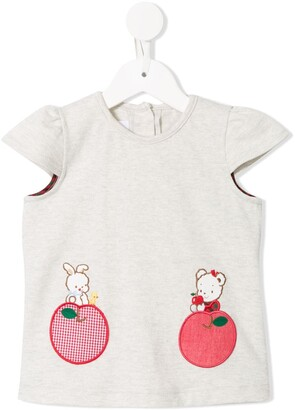 Familiar Apple embroidered T-shirt