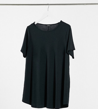 Yours ribbed top in black