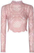 Glamorous **Crochet High Neck Crop Top