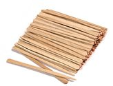 100 Ct. Small Wooden Waxing Applicator Sticks for Eyebrow & Face