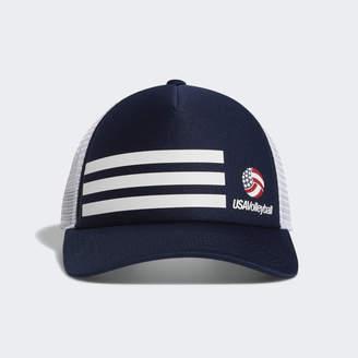 adidas USA Volleyball 3-Stripes Trucker Hat
