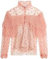 Luisa Beccaria Polka-dot tulle blouse