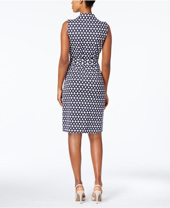 Charter Club Iconic-Print Belted Shirtdress Created for Macy's