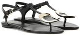 Roger Vivier Thong Chips Embellished Leather Sandals