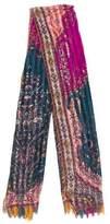 Etro Floral Silk-Blend Scarf
