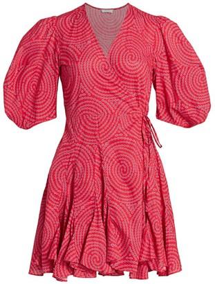 Rhode Resort Rosie Puff Sleeve Wrap Dress