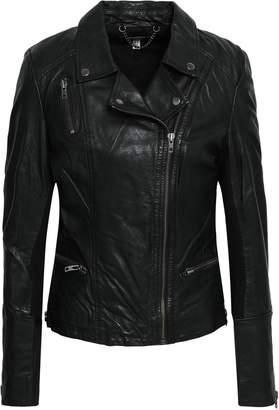 Muu Baa Muubaa Almora Zip-detailed Crinkled-leather Biker Jacket