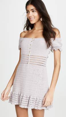 She Made Me Crochet Off the Shoulder Dress