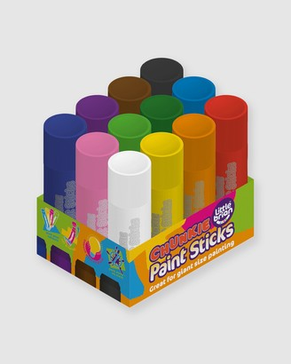 Little Brian Paint Sticks - Girl's White Painting & Accessories - Chunkie Paint Sticks 12-Pack - Kids - Size One Size at The Iconic