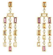 David Yurman Novella Hampton Gemstone& Diamond Chandelier Earrings