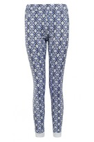 Select Fashion Fashion Womens Blue Blue Tile Print Jegging - size 8