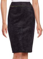 Calvin Klein Petite Faux Seude Pencil Skirt