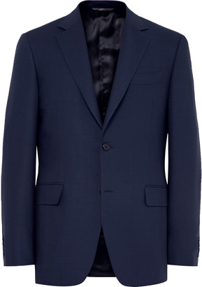 Canali Royal-Blue Slim-Fit Travel Water-Resistant Wool Blazer