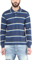 American Crew Men's Polo Collar Long Sleeves Stripes T-Shirt -XXL (AC057FS-XXL)