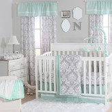 The Peanut Shell Damask 4 Piece Crib Bedding Set