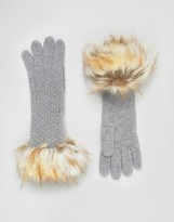 Alice Hannah Woven Stitch Knit Gloves