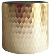"Threshold Faceted Hurricane Vase 5"" Gold"