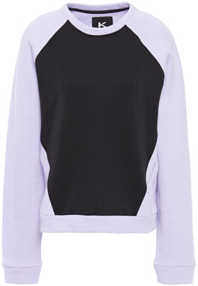 Koral Two-tone French Cotton-blend Terry And Fleece Sweatshirt