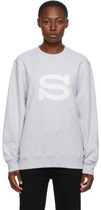 Stussy Grey Logo Applique Sweatshirt