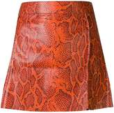 Chloé python-print leather mini skirt