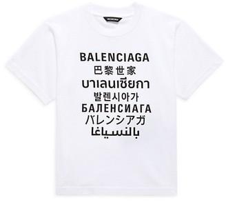 Balenciaga Little Kid's & Kid's Graphic Logo T-Shirt