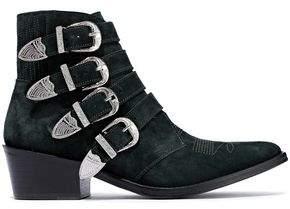 Toga Pulla Embellished Suede Ankle Boots