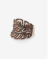 Express pave double leaf ring