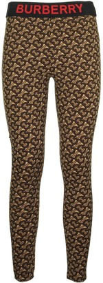 Burberry Monogram Print Stretch Jersey Leggings