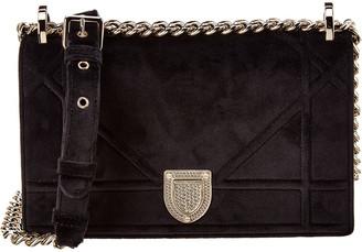 Christian Dior Diorama Small Velvet Shoulder Bag