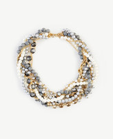 Ann Taylor Pearlized Twist Statement Necklace