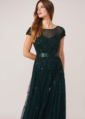Phase Eight Renee Beaded Tulle Dress