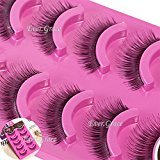 Rabbit Hairs Party Salon Makeup 5 Pairs False Eyelashes Eye Extension Lash Soft