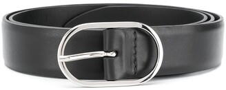 Orciani Oval-Buckle Leather Belt