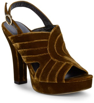Diane von Furstenberg Tabby Faux-Suede Platform Sandals