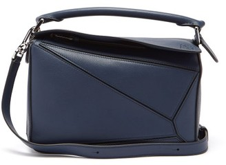 Loewe Puzzle Small Leather Cross-body Bag - Navy
