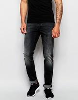 Antony Morato Washed Black Jeans In Skinny Fit - Black