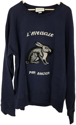 Gucci Navy Cotton Knitwear & Sweatshirts